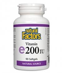 NATURAL FACTORS Vitamin E 100mg. 200iu / 90 Soft.