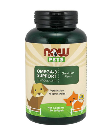 NOW PETS Omega-3 Support / 180 C***ets