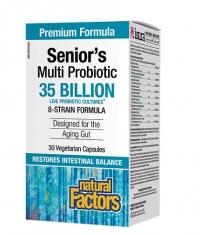 NATURAL FACTORS Senior's Multi Probiotic / 30 Vcaps.
