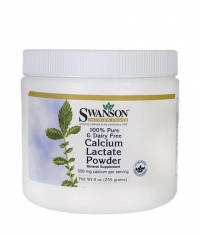 SWANSON 100% Pure & Dairy Free Calcium Lactate Powder 550mg
