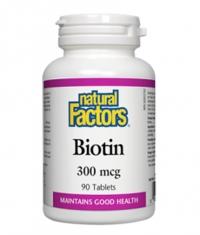 NATURAL FACTORS Biotin 300mcg / 90Tabs.