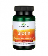 SWANSON Biotin - High Potency 10000mcg. / 60 Soft.
