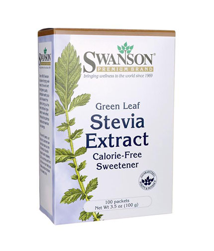 SWANSON Green Leaf Stevia Extract / 100 Packs