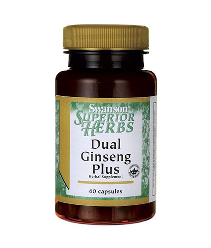 SWANSON Dual Ginseng Plus / 60 Caps