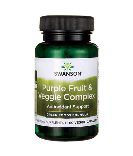 SWANSON Purple Fruit & Veggie Complex 400mg. / 60 Vcaps