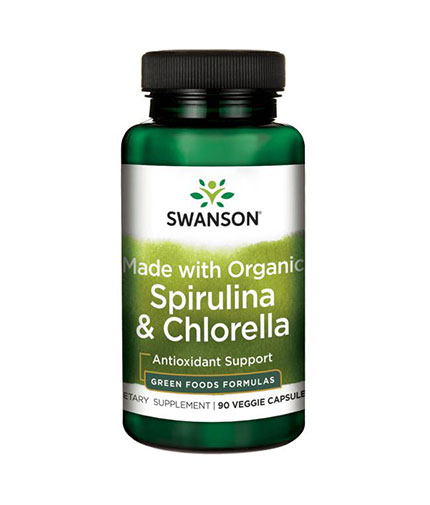 SWANSON Made with Organic Spirulina & Chlorella / 90 Vcaps