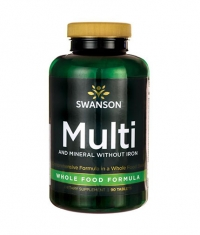 SWANSON Multi and Mineral without Iron Whole Food Formula / 90 Tabs