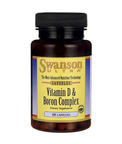 SWANSON Vitamin D & Boron / 60 Caps