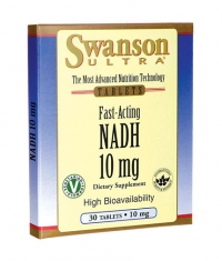 SWANSON Fast-Acting NADH High Bioavailability 10mg. / 30 Loz.