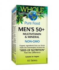 NATURAL FACTORS Whole Earth & Sea Men's 50+ / 60 Tabs
