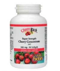 NATURAL FACTORS CherryRich Super Strength Cherry Concentrate 500mg / 90 Softg.