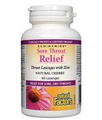 NATURAL FACTORS Sore Troat Relief / 60 Lozenges