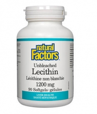 NATURAL FACTORS Unbleached Lecithin 1200mg / 90 Softg
