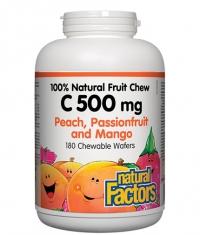 NATURAL FACTORS Vitamin C 500mg Chewable Frutti / 90 Tabs
