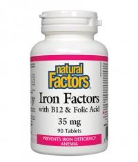 NATURAL FACTORS Iron Factors 35mg / 90 Tabs