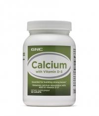 GNC Calcium with Vitamin D-3 / 120 Caps.