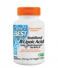 DOCTOR'S BEST Stabilized R-Alpha-Lipoic Acid 200mg. / 60 Vcaps.