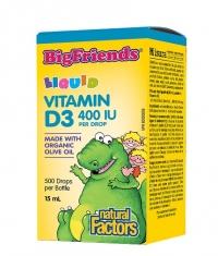 NATURAL FACTORS Vitamin D3 Bigfriends 400 IU / 15ml