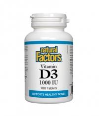 NATURAL FACTORS Vitamin D3 1000 IU / 180 Tabs.