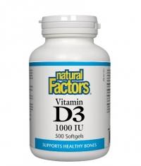 NATURAL FACTORS Vitamin D3 1000 IU / 500 Softgels