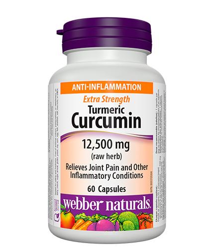 WEBBER NATURALS Turmeric Curcumin 12,500 / 60 Caps.