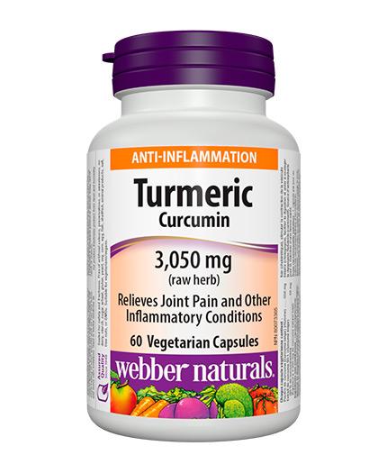 WEBBER NATURALS Turmeric Curcumin 3,050 / 60 Vcaps.