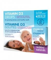 WEBBER NATURALS Vitamin D3 Drops 2x15ml.