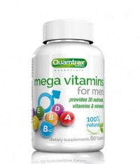 QUAMTRAX NUTRITION Mega Vitamins for Men / 60 Tabs.