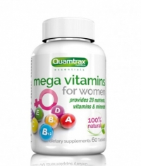 QUAMTRAX NUTRITION Mega Vitamins for Women / 60 Tabs.