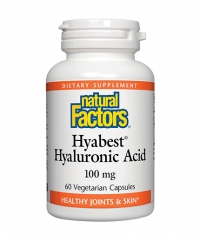 NATURAL FACTORS Hyabest® Hyaluronic Acid 100mg. / 60 Vcaps