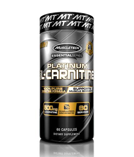 MUSCLETECH Platinum 100% L-Carnitine / 60 Caps
