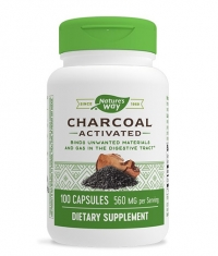 NATURES WAY Charcoal Activated 560 mg from Coconut Shells / 100 Caps