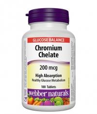 WEBBER NATURALS Chromium Chelate 200mcg. / 180 Tabs