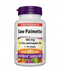 WEBBER NATURALS Saw Palmetto 160 mcg. / 90 Softgels