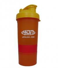 4DN Shaker Bottle Orange 400ml.