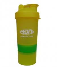 4DN Shaker Bottle Yellow 400ml.