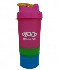 4DN Shaker Bottle Pink Green 400ml.