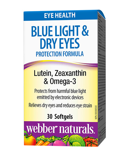 WEBBER NATURALS Blue Light Dry Eyes Protection Formula / 30 Softgels