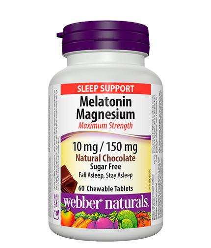WEBBER NATURALS Melatonin Magnesium / 60 Chewable tabs