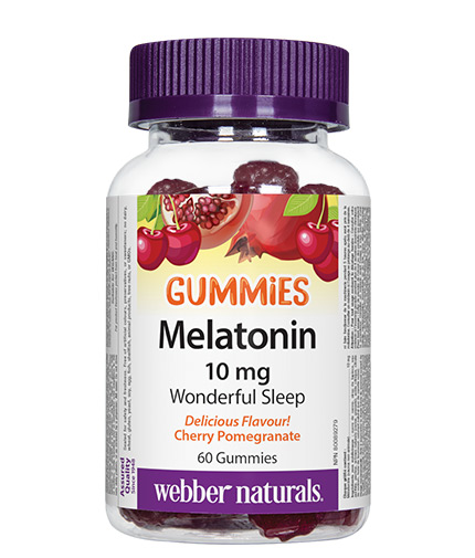 WEBBER NATURALS Melatonin Gummies 10mg. / 60 Gummies