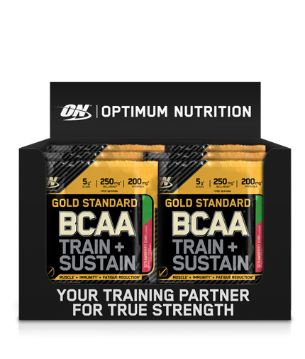 OPTIMUM NUTRITION Gold Standard *** Train + Sustain Box / 24x19g
