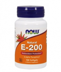 NOW Vitamin E-200 IU D-Alpha / 100 Softgels