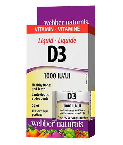 WEBBER NATURALS Liquid Vitamin D3 1000 IU / 25ml