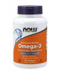 NOW Omega-3 Enteric Coated / 90 Softgels