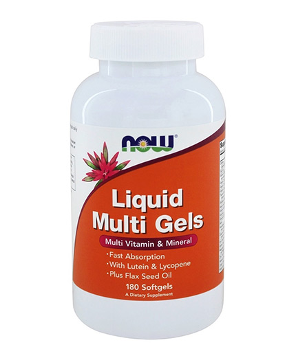 NOW Liquid Multi Gels / 180 Softgels