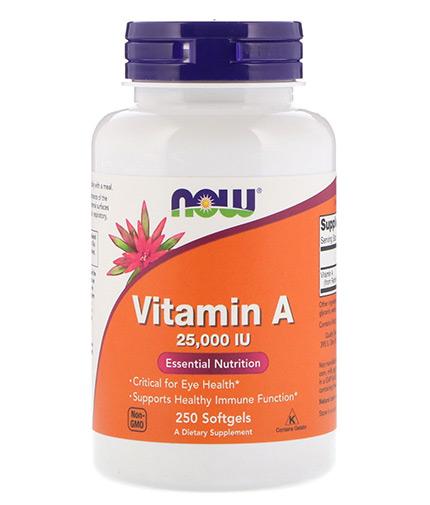 NOW Vitamin A 25,000 IU / 250 Softgels