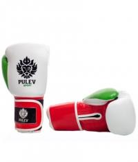 PULEV SPORT Boxing Gloves Bulgarian Power Lion Logo Strap