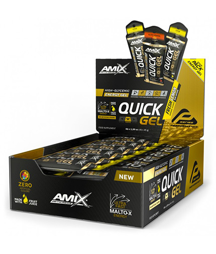 AMIX QUICK Energy Gel Box / 40x45g