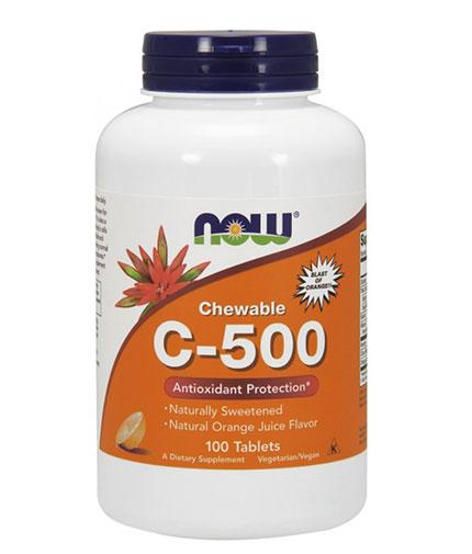 NOW Vitamin C-500 Chewable / 100 Tabs