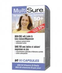 WEBBER NATURALS MultiSure for Women 50+ / 80 Caps